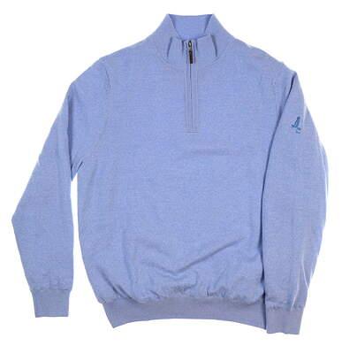 New W/ Logo Mens Fairway & Greene Merino Windsweater Medium M Blue MSRP $190 04112