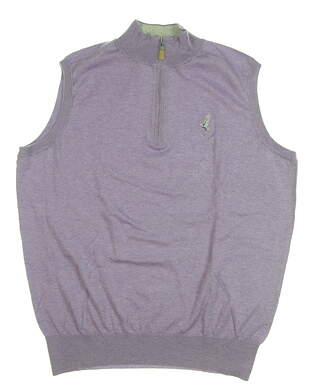 New W/ Logo Mens Peter Millar Golf Sweater Vest Medium M Purple MSRP $145 MS18S02