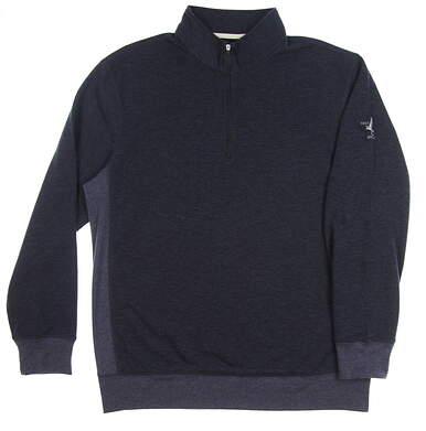 New W/ Logo Mens Dunning Golf 1/4 Zip Sweater X-Large XL Navy Blue MSRP $130 D7F17K918