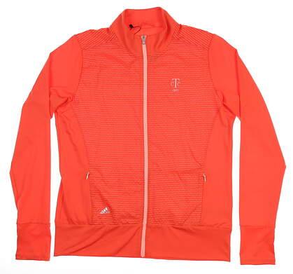 New W/ Logo Womens Adidas Wind Jacket Medium M Orange