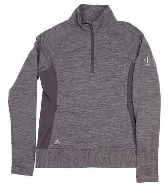 New W/ Logo Womens Adidas Rangewear 1/2 Zip Pullover Small S Gray BC7380