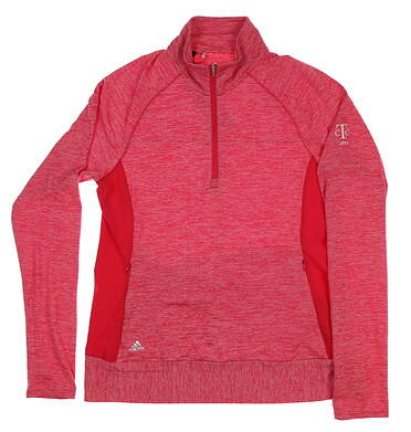 New W/ Logo Womens Adidas Rangewear 1/2 Zip Pullover Medium M Pink BC5277
