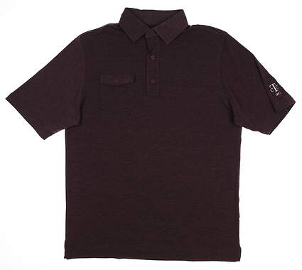 New W/ Logo Mens Footjoy Golf Polo Medium M Purple