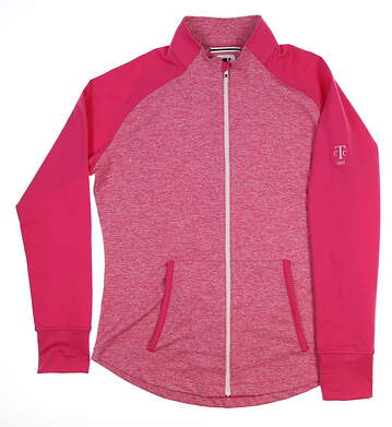 New W/ Logo Womens Footjoy Brushed Space Dye Mid Layer Large L Pink 27198