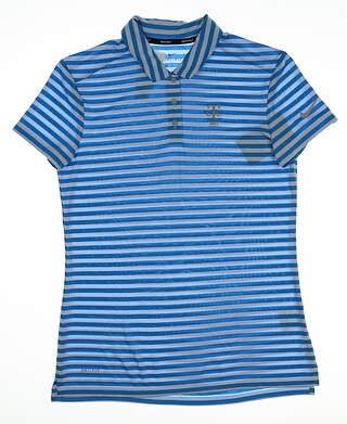 New W/ Logo Womens Nike Golf Polo Small S Blue MSRP $65