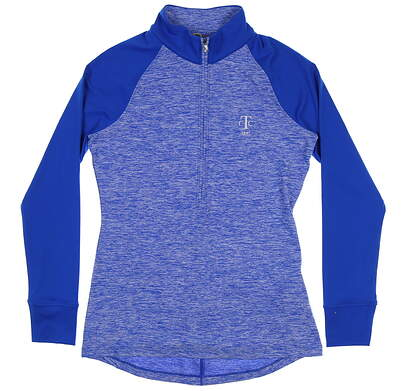 New W/ Logo Womens Under Armour Golf 1/4 Zip Pullover Small S Blue MSRP $79 UW2351