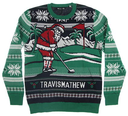 New Mens Travis Mathew Chim Chim Christmas Sweater X-Large XL Multi MSRP $85 1MP293