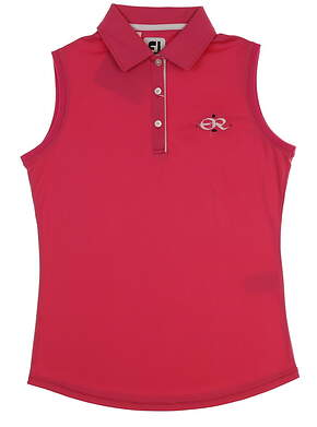 New W/ Logo Womens Footjoy Sleeveless Polo X-Small XS Pink MSRP $73