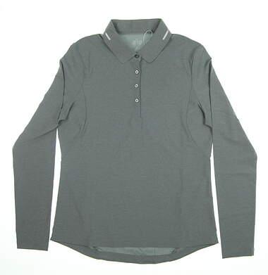 New Womens Nivo Sport Golf Long Sleeve Polo Small S Gray MSRP $95 NI7210193