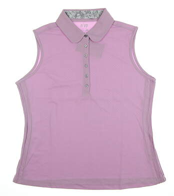 New Womens Nivo Sport Renee Sleeveless Polo Large L Orchid MSRP $72 NI7210170