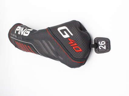 Ping G410 5 Hybrid Headcover 26° Tag Black White and Red