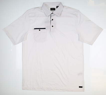 New Mens Greg Norman Golf Polo Large L White MSRP $80 G7F7K520