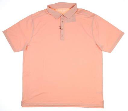 New Mens MATTE GREY Golf Polo XX-Large XXL Orange MSRP $71 110102