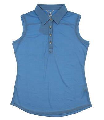 New Womens Cutter & Buck Golf Sleeveless Polo Small S Blue MSRP $65 LCK08681