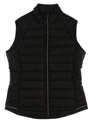 New Womens Cutter & Buck Vest Large L Black MSRP $96 LCO09985