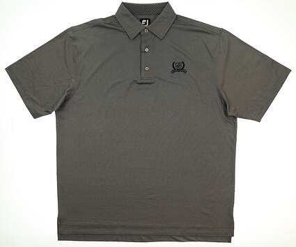 New W/ Logo Mens Footjoy Golf Polo X-Large XL Gray MSRP $86 25537