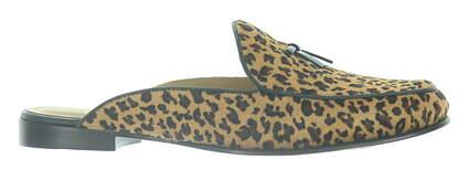 New Womens Peter Millar Marion Calf-Hair Mule Medium 7.5 Leopard MSRP $200