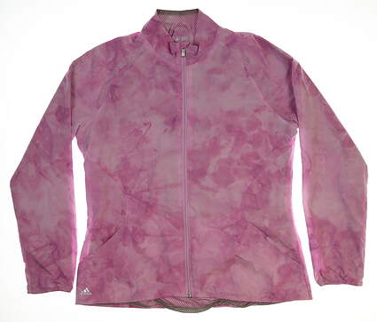 New Womens Adidas ADV Wind Jacket Large L Pink MSRP $96
