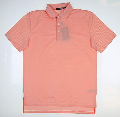 New Mens Ralph Lauren RLX Golf Polo Medium M Orange MSRP $90 785697177002
