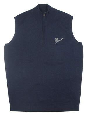 New W/ Logo Mens Peter Millar Golf Sweater Vest Small S Blue MSRP $175 MS18S15