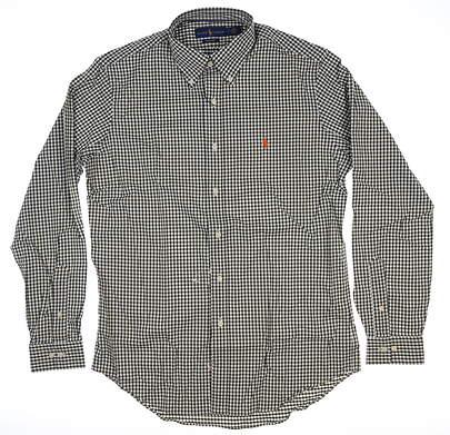 New Mens Ralph Lauren Button Up Medium M Green MSRP $99 7814664207001
