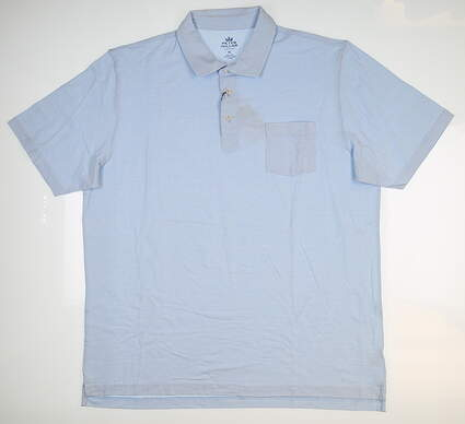 New Mens Peter Millar Golf Polo X-Large XL Blue MSRP $88 MF18K72P