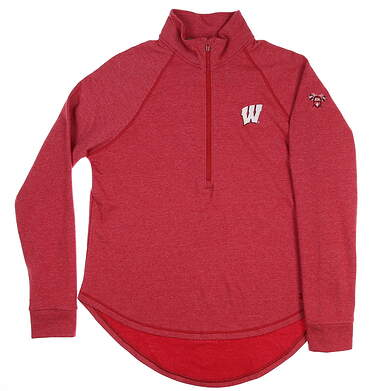 New W/ Logo Womens Under Armour Golf Pullover X-Large XL Red MSRP $75 UW1245