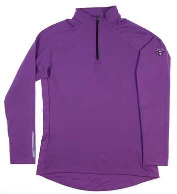 New W/ Logo Womens Sun Mountain 1/4 Zip Pullover Medium M Purple MSRP $82