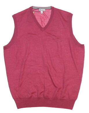 New Mens Peter Millar Vest Large L Radi Pink MF18S32 MSRP $130