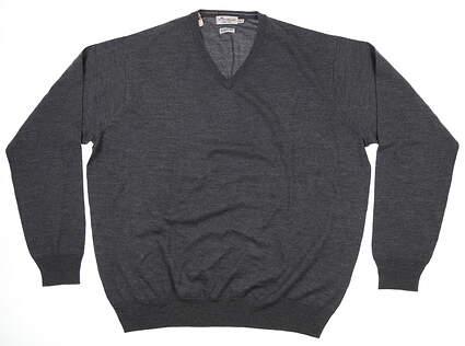 New Mens Peter Millar Sweater XX-Large XXL Charcoal Gray MF17S31 MSRP $160