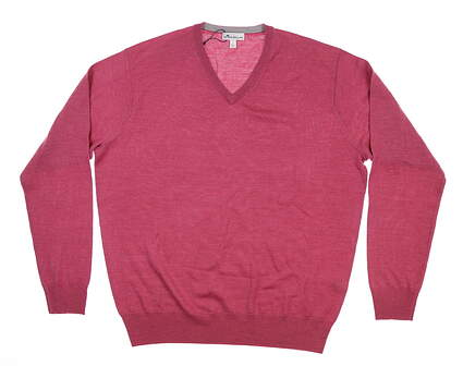 New Mens Peter Millar Sweater Large L Magenta MF18S31 MSRP $160