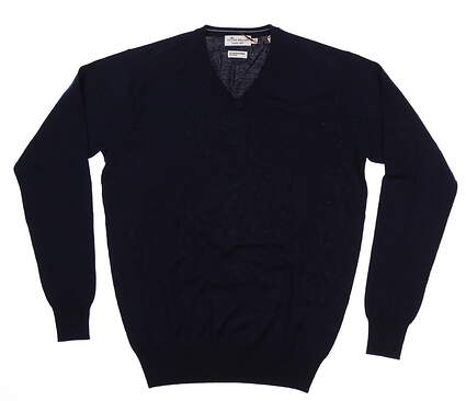 New Mens Peter Millar Sweater Small S Navy Blue MF17S31 MSRP $160