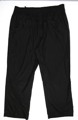 New Mens Adidas Golf Rain Pants XX-Large XXL Black
