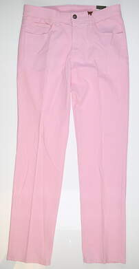 New Mens Straight Down Pants 34 x34 Pink 50122-34 MSRP $159