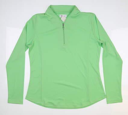 New Womens Greg Norman Long Sleeve Medium M Green MSRP $85