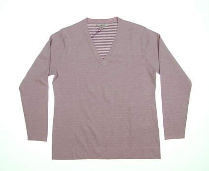 New Mens Peter Millar Sweater Medium M Purple LF17ES01 MSRP $159