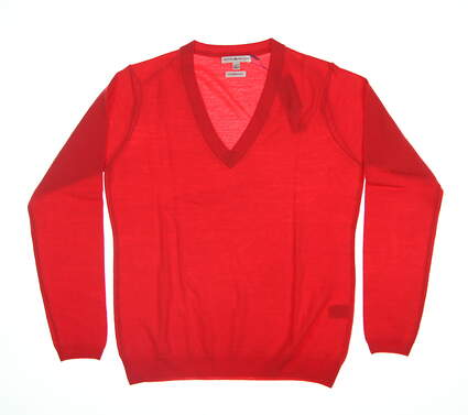 New Womens Peter Millar Sweater Large L Red LF16ES03 MSRP $159