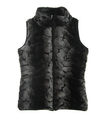New Womens Straight Down Vest Small S Gray MSRP $130
