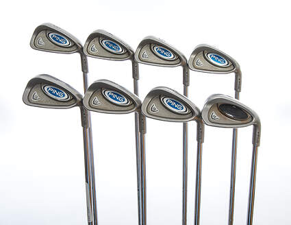 Ping i5 Iron Set 3-PW Ping AWT Steel Stiff Right Handed Black Dot 37.75 in