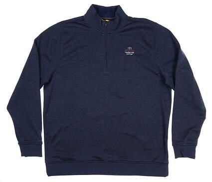 New W/ Logo Mens Under Armour Golf 1/4 Zip Pullover XX-Large XXL Navy Blue MSRP $79