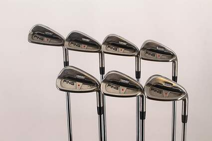 Ping S58 Iron Set 4-PW True Temper Steel Stiff Right Handed Red dot 37.75in