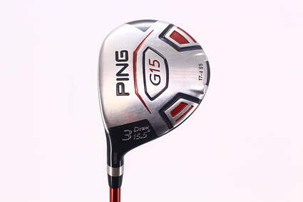 Ping G15 Draw Fairway Wood 3 Wood 3W 15.5* Ping TFC 149F Graphite Senior Left Handed 42.75 in