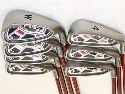 Ping G15 Iron Set 4-PW Ping TFC 149I Graphite Stiff Right Handed Blue Dot 37.75 in