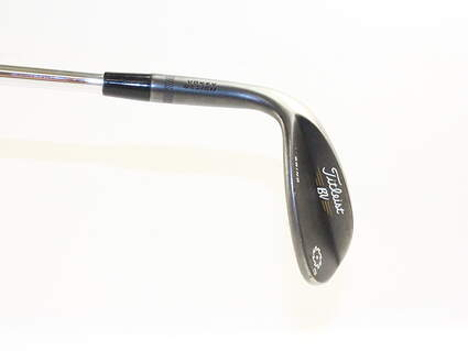 Titleist Vokey SM5 Raw Black Wedge Lob LW 58* 8 Deg Bounce M Grind Titleist SM5 BV Graphite Wedge Flex Left Handed 35 in