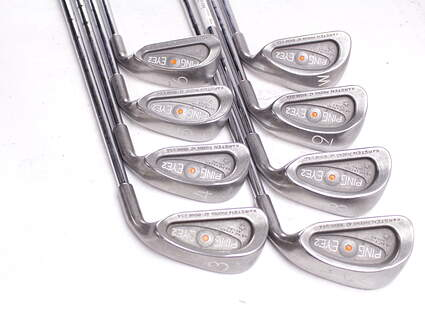 Ping Eye 2 Iron Set 3-PW Ping KT Steel Right Handed Orange Dot 37.75 in