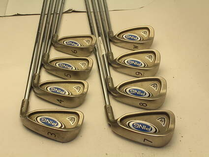Ping i5 Iron Set 3-PW Stock Steel Shaft Steel Stiff Right Handed 38 in