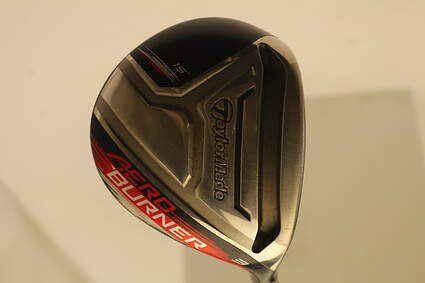 TaylorMade Aeroburner Black Fairway Wood 3 Wood 3W 15* Stock Graphite Shaft Graphite Stiff Right Handed 43 in