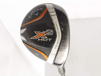 Callaway X2 Hot Pro Fairway Wood 4 Wood 4W 17* Aldila Tour Green Graphite Stiff Right Handed 42.75 in
