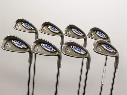 Ping i5 Iron Set 4-GW Stock Steel Shaft Steel Stiff Right Handed 37.5in