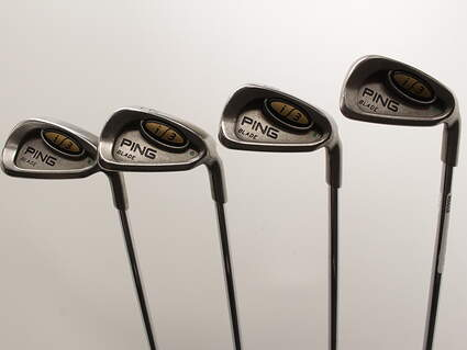 Ping i3 Blade Iron Set 7-PW Stock Steel Shaft Steel Stiff Right Handed Green Dot 37.25in